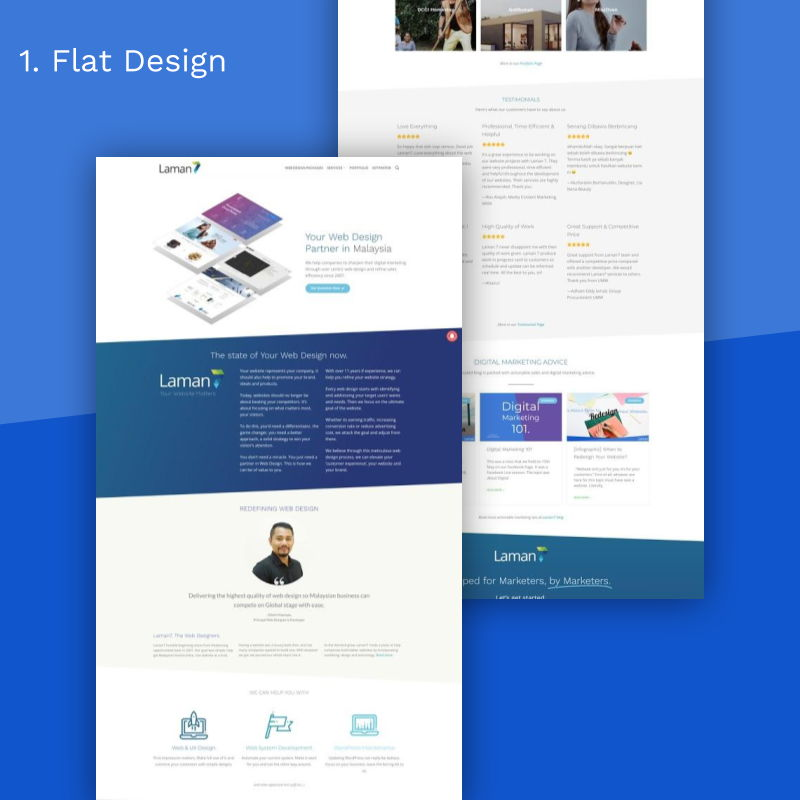 7 Website Super Gorgeous_flat design
