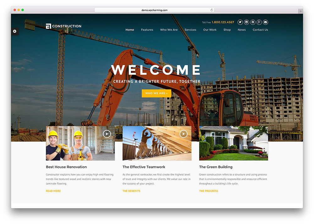 Web Design for Construction Company 5