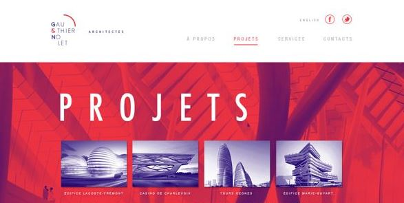 element in web design for architects_color sheme