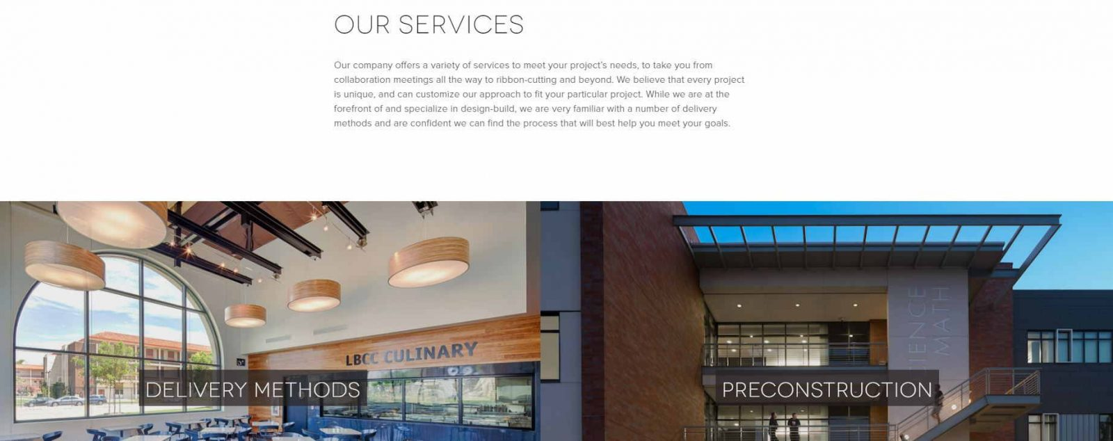 element web design for construction co_service page