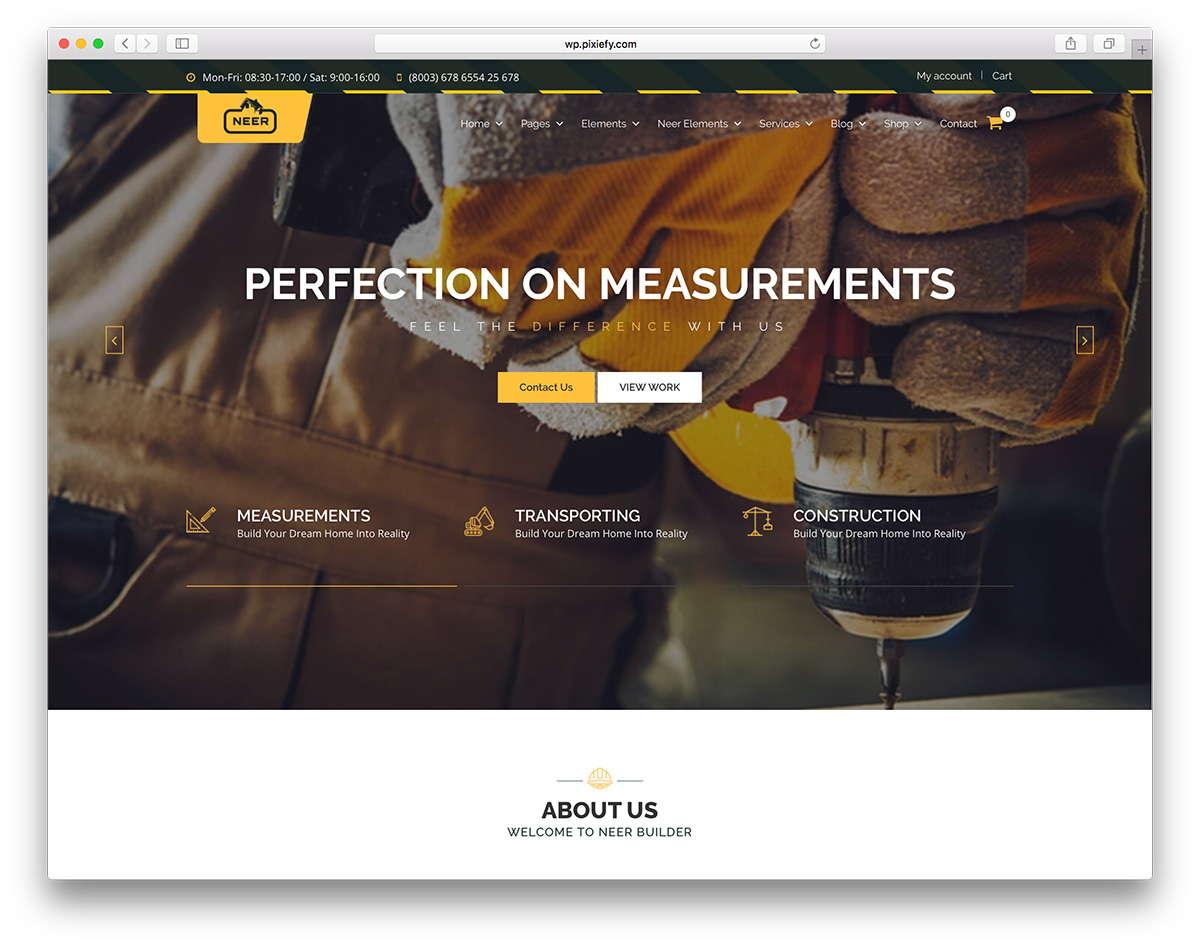 Web Design for Construction Company 4