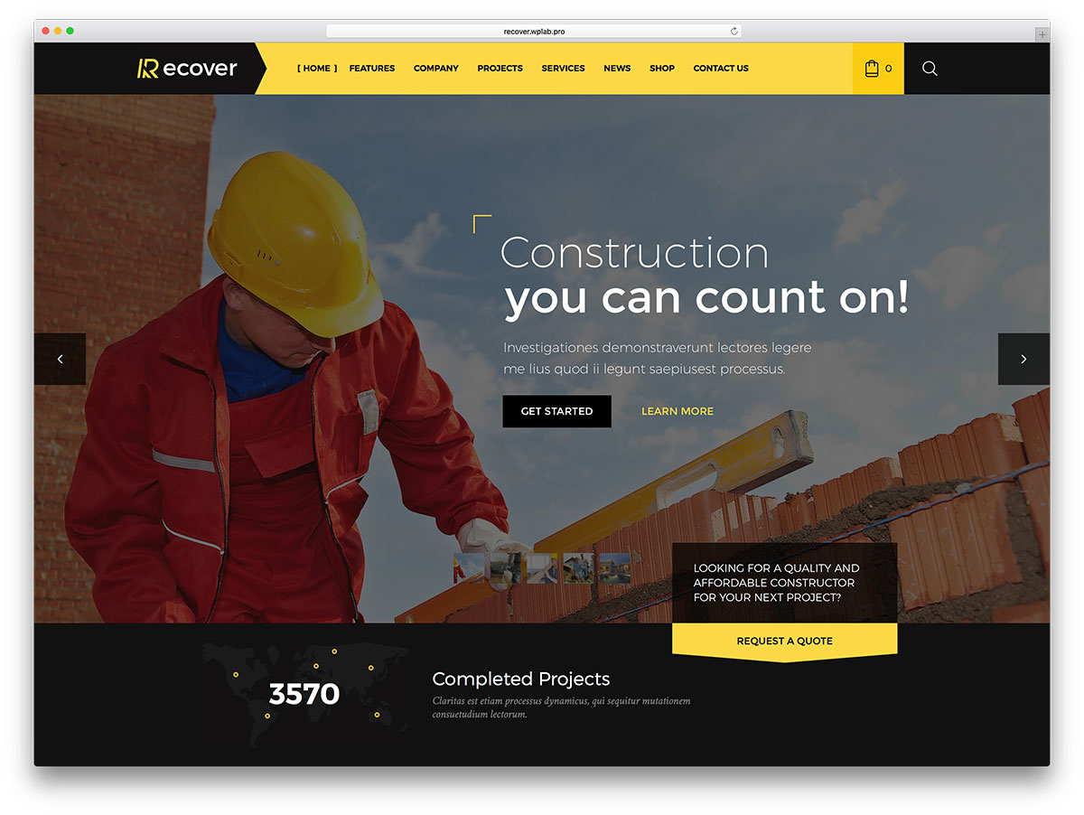 Web Design for Construction Company 6