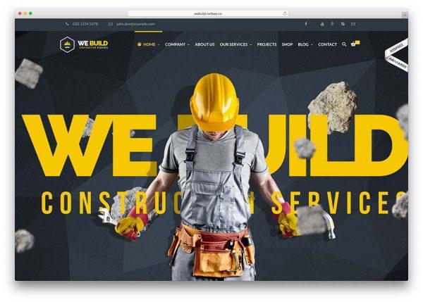 Web Design for Construction Company 3