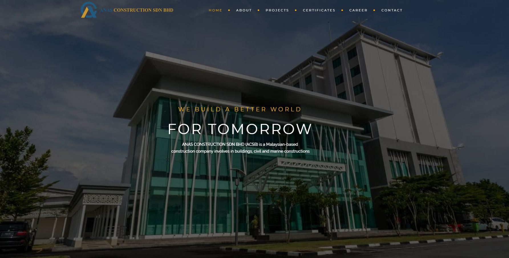 Web Design for Construction Company 7