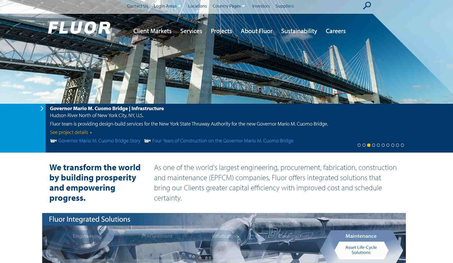 top web design for construction co_fluor