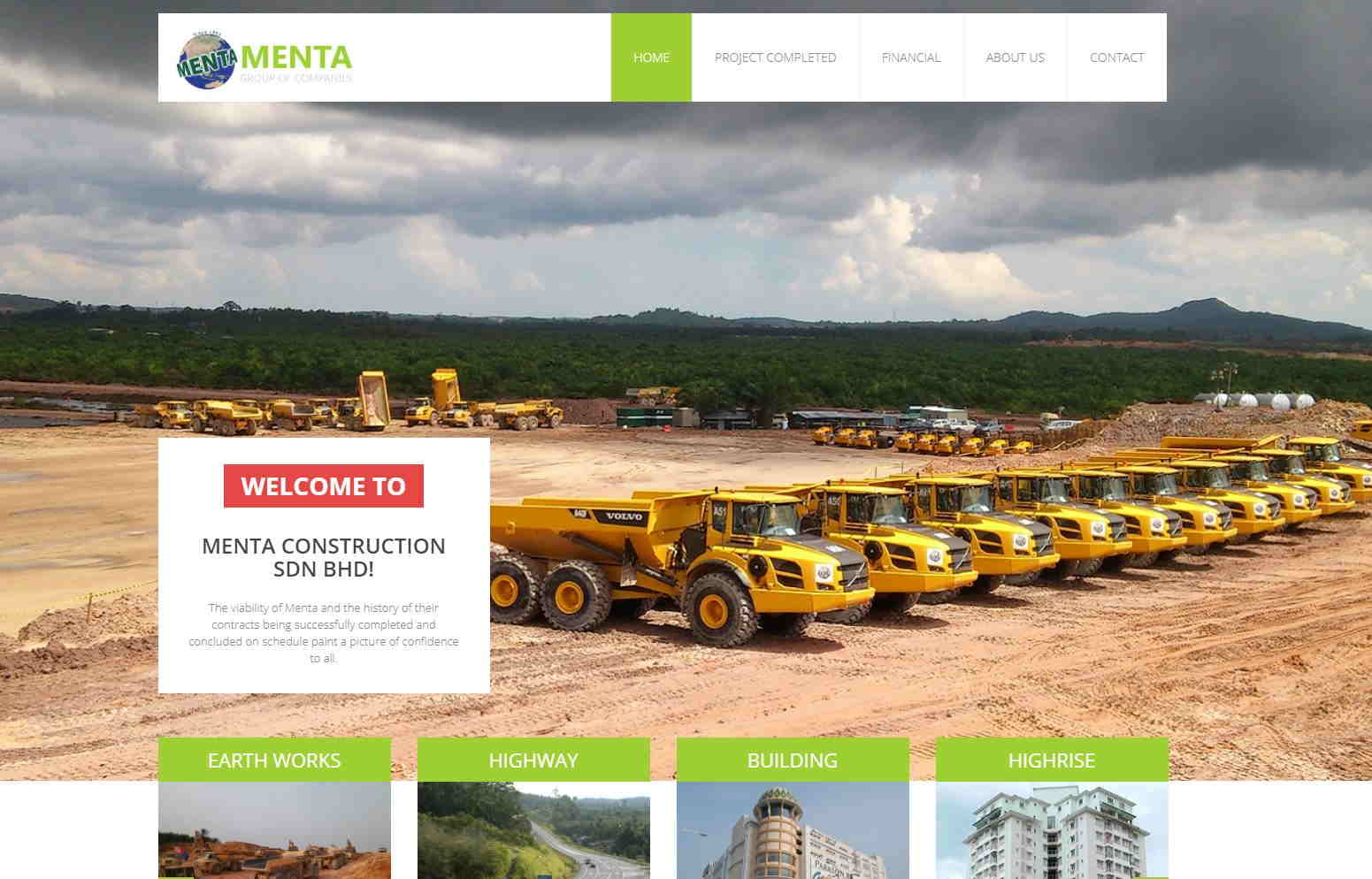 TOP web design for construction co_menta