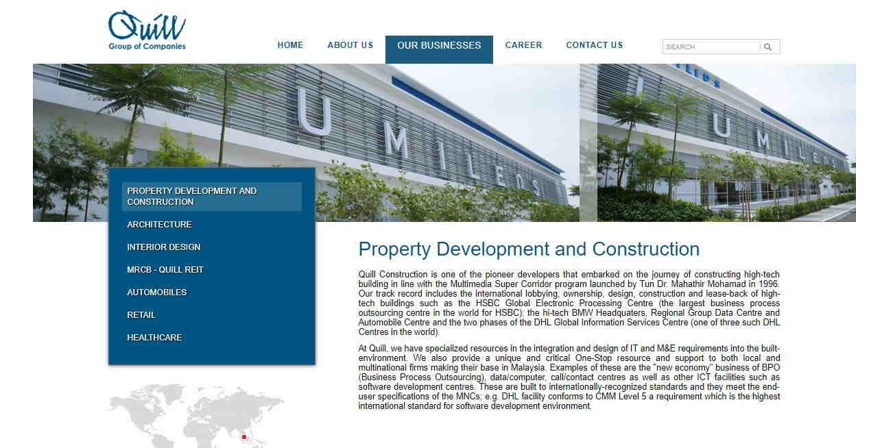 Web Design for Construction Company 8
