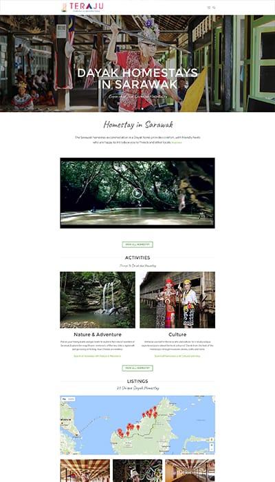 DCCI Teraju Homestay Main Page Web Design