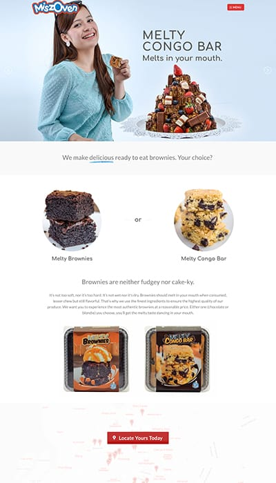 Miszoven Food Beverage Main Page Web Design