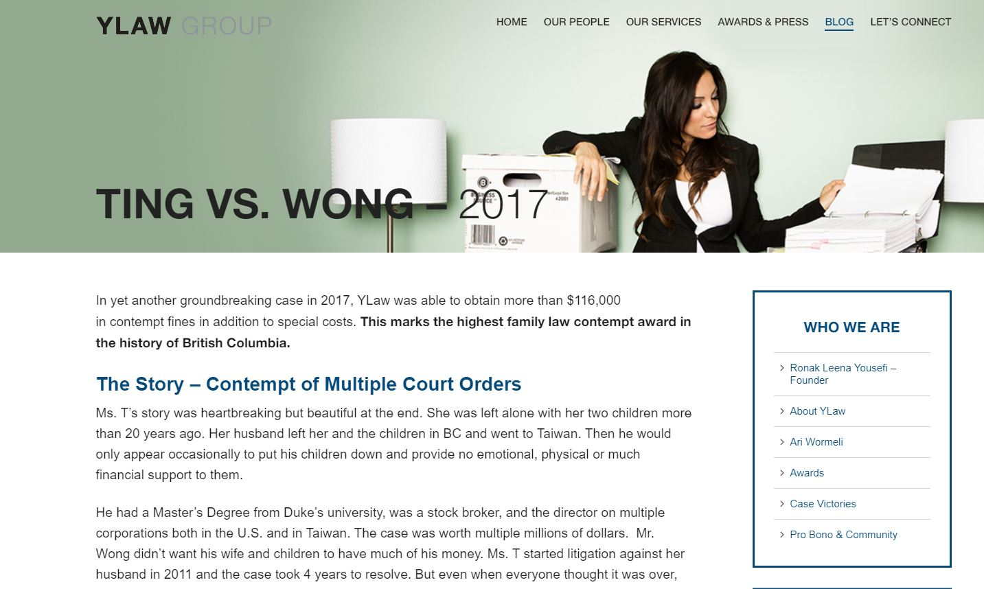 web design for lawyers_case results