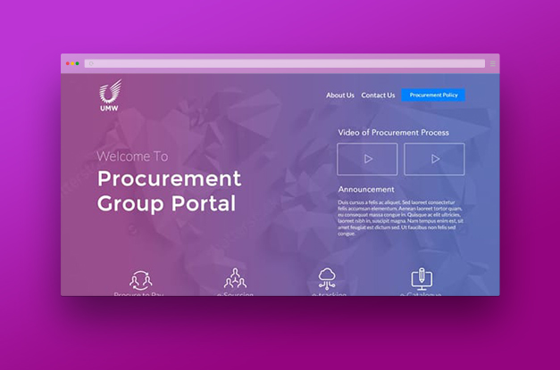 UMW Procurement Portal